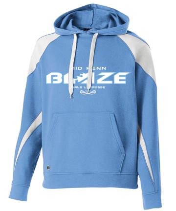 HoodedSweatShirt-Blue-White